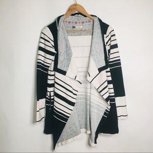 ROXY striped open draped cardigan